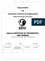 Web Technology Lab Manual
