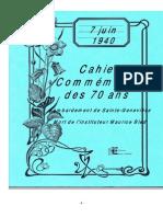 Cahier commémoratif Maurice BLED
