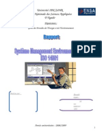 Projet SME Iso14001