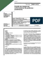 NBR 5416 - 1997 - Aplicacao de Cargas Em Transformadores de Potencia - Procedimento
