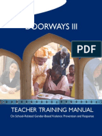 Doorways III Student Training Manual on GBV