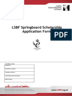 Springboard Scholarship Application