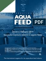Successful moisture control in aquatic feeds