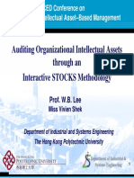 Auditing Organizational Intellectual Assets through an Interactive STOCKS Methodology
