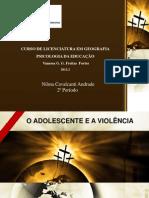 O ADOLESCENTE E A VIOLÊNCIA