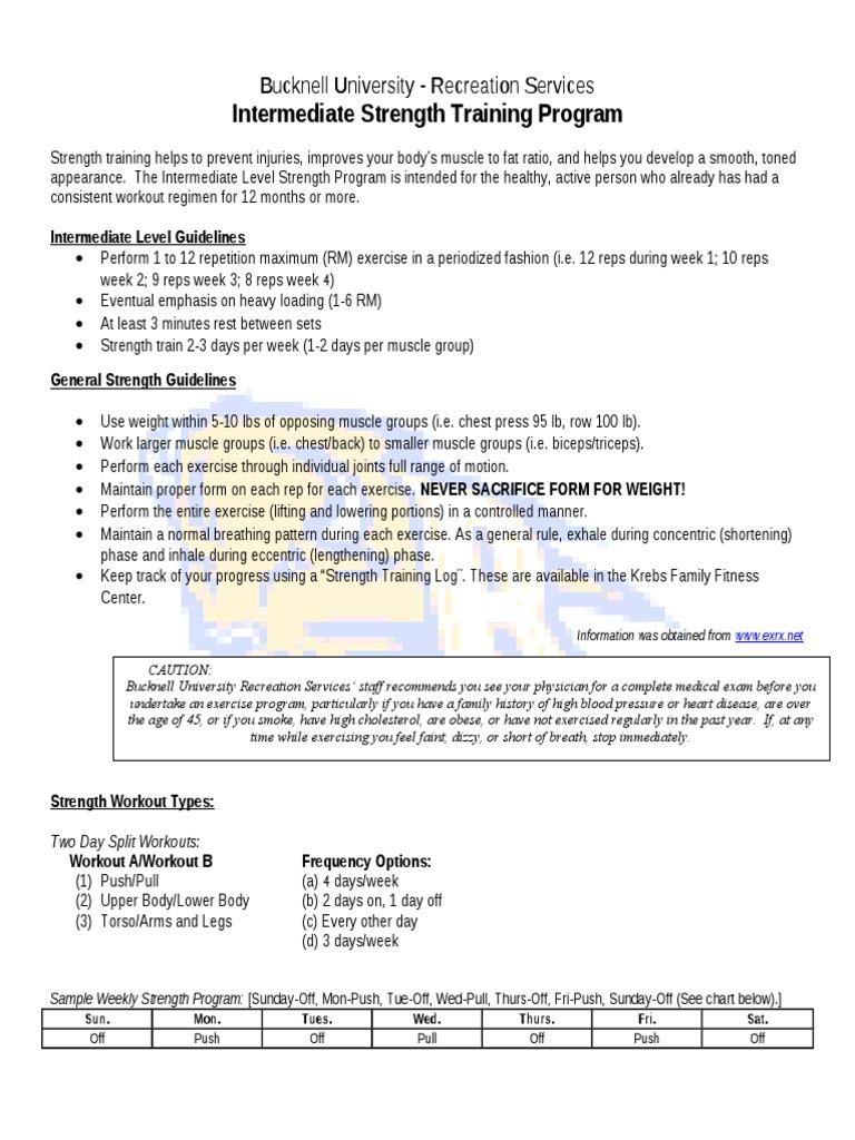 Intermediate Level Strength Training Program | Strength