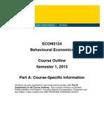 ECON3124 Behavioural Economics S12013 PartA