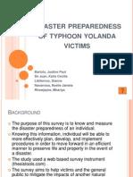 Disaster Preparedness of Typhoon Yolanda Victims