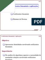 Aula_013_Coeficientes binomiais e aplicações