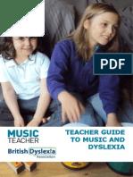 Music Teacher Guide Music and Dyslexia