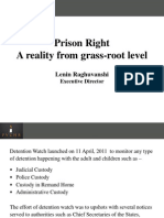 PVCHR initiative for prison reform