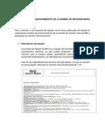 GUÍA RÁPIDA DE FUNCIONAMIENTO DE LA BOMBA DE INFUSIÓN NIPRO FP