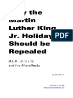 Why the Martin Luther King Jr Holiday Should Be Repealed Mark Farrell