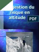 Nanchen-Gestion Du Risque en Altitude