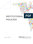 Institutional Policies Alianza Regional