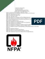 Codigos NFPA para aviación