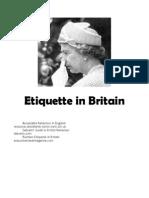 Etiquette in Britain