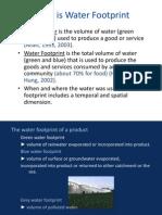 What is Water Footprint