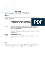 State of the County ADVISORY