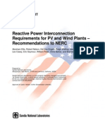 Reactive Power Interconnection Requirements