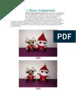Papa Noel y Reno Amigurumi