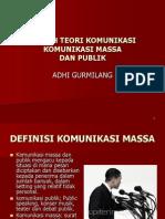 Gurmilang, A.. Komunikasi Massa Dan Publik
