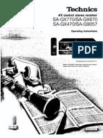 Technics Sa Gx 470 770