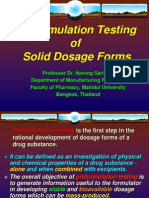 Preformulation Testing of Solid Dosage Forms
