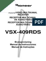Vsx-409rds Manual Es Pt Se