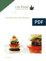 Everyday Raw Food Recipes