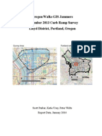 Oregon Walks GIS Jammers Report On Curb Ramp Survey Lloyd District
