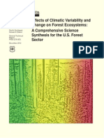 Effects of Climate Variability and Change on Forest Ecosystems