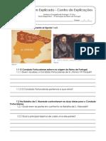 1.4 Teste Diagnóstico - A Formação do Reino de Portugal (1)