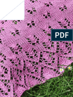 Tulips and Butterflies lace shawl