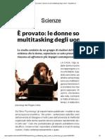 È provato_ le donne sono più multitasking degli uomini - Repubblica