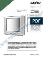 Sanyo Plana Chassis 24424-00 24425-00 Manual de Servicio