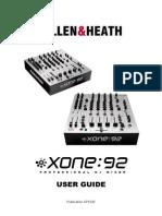xone92 user guide manual