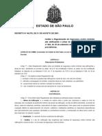 INCÊNDIO SP - Decreto Estadual Nº 46076
