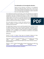 Contextualización de la informática en la investigación educativa