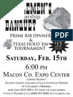 2014 Macon County Cattlemens Banquet Flyer