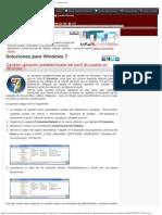 Cambiar ubicación predeterminada del perfil de usuario en Windows 7 - InFoAL