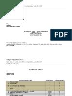 Plan Anuala Cl a XI-A, 2013-2014