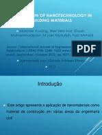 apresentação nanomateriais costrução