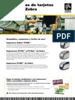 Impresora de Credenciales Tarjetas Zebra Mexico 12589L E