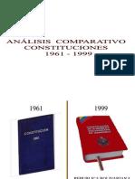 comparacion constituciones 1961-1999