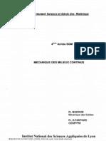 MMC 1 mécanique des milieux continus déformables titre