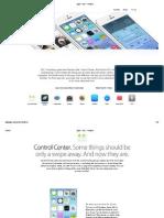 Apple - iOS 7 - Features