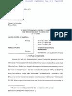 United States of America v. Rebecca Jeanette Rubin - defence sentencing submission