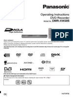 Panasonic DMR-XW385 User Manual