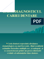 radio diagnosticul cariei dentare